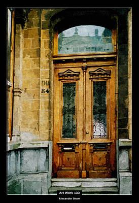 Art Work 133 Old Door Print by Alexander Drum