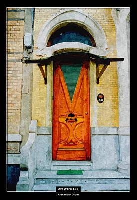 Art Work 136 Old Door Print by Alexander Drum