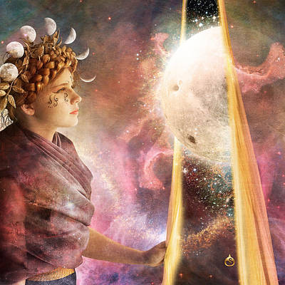 Artemis Parting The Veil Print by Sonya Shannon