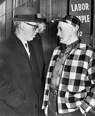 2 Faces Photograph - Arthur Goldberg by Underwood Archives
