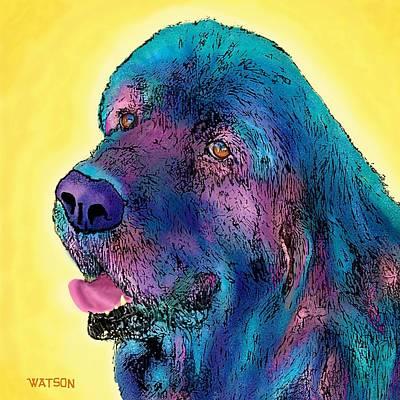 Black Dog Digital Art - Arthur  by Marlene Watson