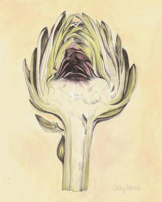 Artichoke Mixed Media - Artichoke II Print by Cathy Savels