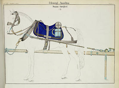 Artillery Horse Furniture Print by British Library