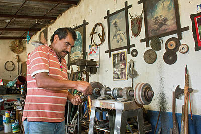 Hand Made Photograph - Artisan Metal Worker by Jim West