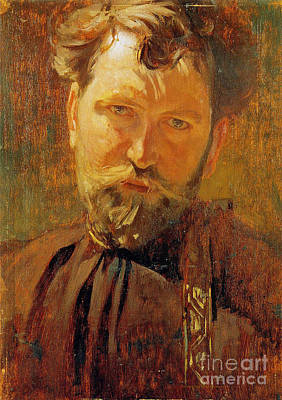 Self Portrait Photograph - Artist Alfons Mucha C1880 by Padre Art