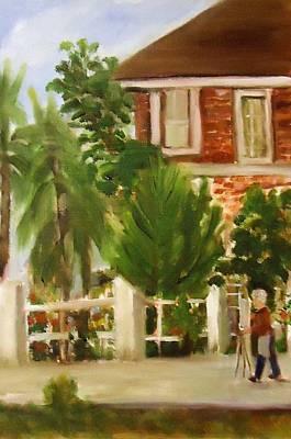 Artist In Galveston Print by Betty Pimm