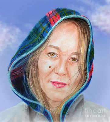 Beauty Mark Drawing - Artist Jadranka Bezanovic Sovilj  Version II by Jim Fitzpatrick