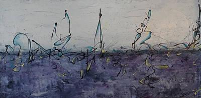 Artist Process Painting - Artist Lifeline by Bradley Carter