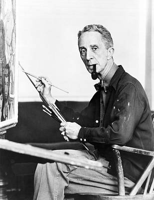 Artist Working Photograph - Artist Norman Rockwell by Underwood Archives