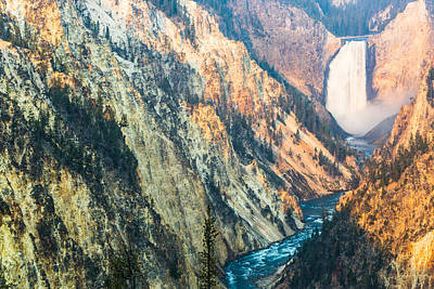 Artist Point - Yellowstone Park Horizontal Print by Andres Leon