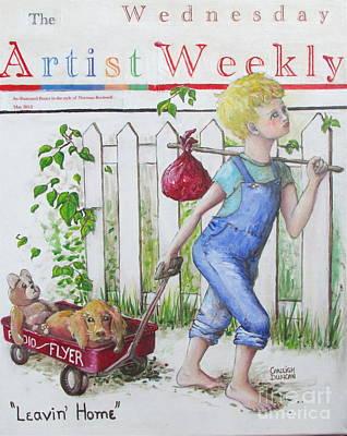 Radio Flyer Wagon Painting - Artist Weekly by Carleigh Duncan-Doyle
