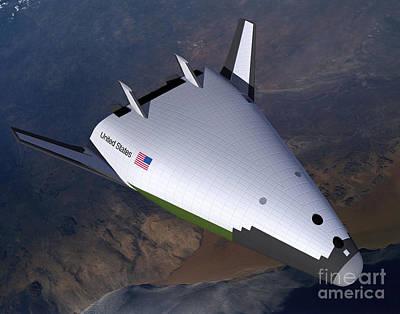 Prototype Digital Art - Artists Concept Of The X-33 by Stocktrek Images