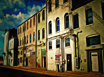 Arts In The Alley Print by MJ Olsen