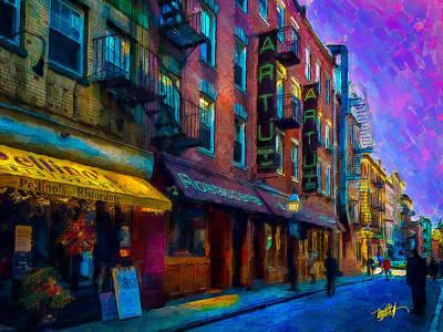 Brick Building Mixed Media - Artu by Michael Petrizzo