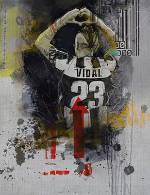 Qatar Painting - Arturo Vidal - B by Corporate Art Task Force