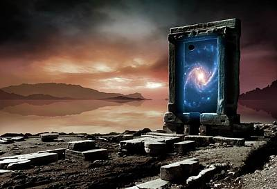 Parallel Universe Photograph - Artwork Of An Inter-dimensional Gateway by Mark Garlick