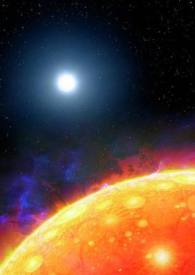 Extrasolar Planet Photograph - Artwork Of Molten Planet Kepler 70b by Mark Garlick