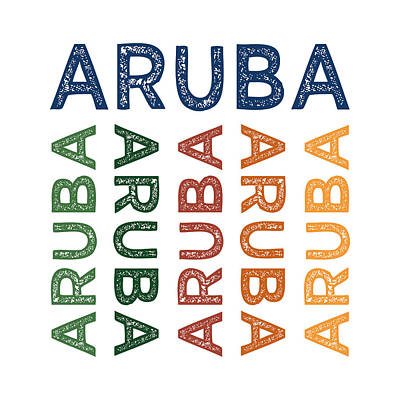 Aruba Cute Colorful Print by Flo Karp