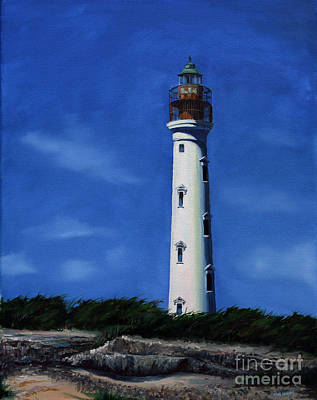 Light House Painting - Aruba Light House by Paul Walsh