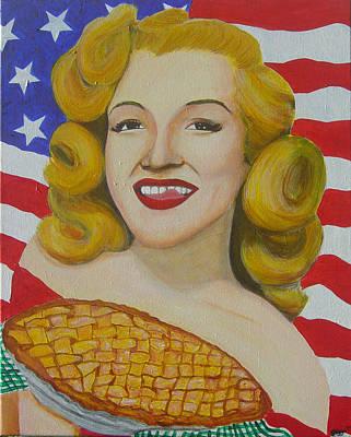As American As Apple Pie Marilyn Monroe Original by Michael Diggs