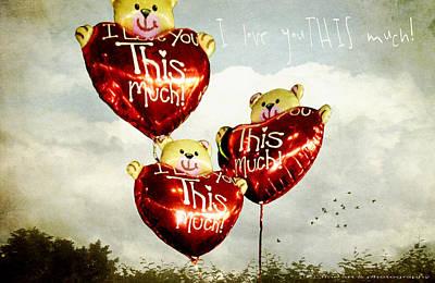 As Free As A Hot Air Balloon Print by Yvon van der Wijk
