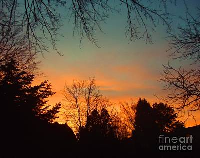 As The Sun Goes Down Print by Ann Johndro-Collins