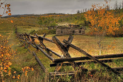 Log Cabin Photograph - As Time Goes By by Donna Kennedy
