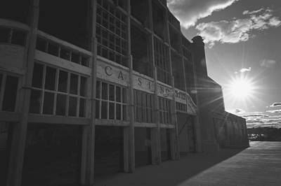 Asbury Park Nj Casino Black And White Print by Terry DeLuco