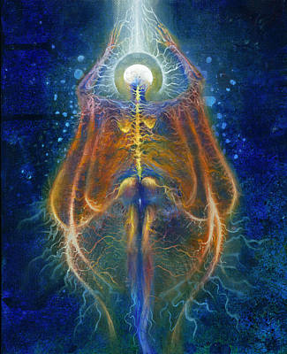 Tree Roots Painting - Ascension Of The Soul Part IIi by Kd Neeley