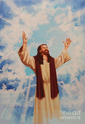 Ascention Of Jesus Print by Heidi E  Nelson
