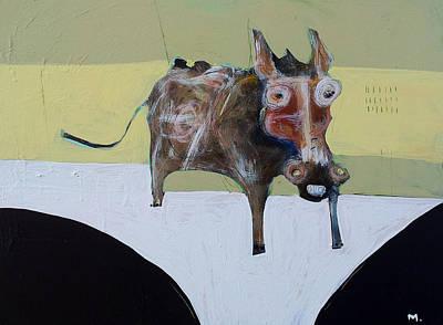 Donkey Mixed Media - Asellus No.1 by Mark M  Mellon