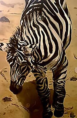 Zebra Painting - Asha by Fallon Franzen