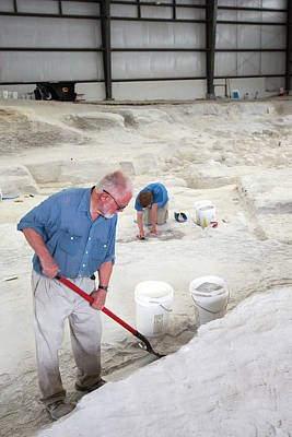 Ashfall Fossil Beds Excavation Print by Jim West
