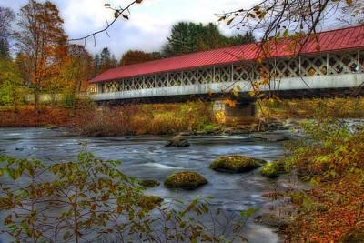 New Hampshire Photograph - Ashuelot Covered Bridge 2 by Joann Vitali