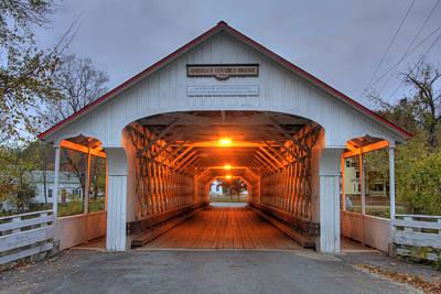 New Hampshire Photograph - Ashuelot Covered Bridge by Joann Vitali
