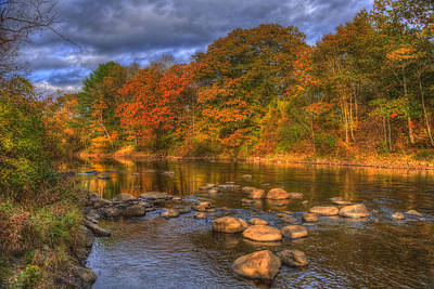 Ashuelot River In Autumn - New Hampshire Print by Joann Vitali
