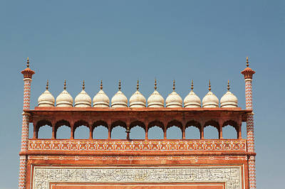 Inlay Photograph - Asia, India Taj Mahal Entry Gate (top by Brent Bergherm