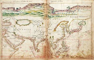 Arabia Photograph - Asia by Library Of Congress, Geography And Map Division