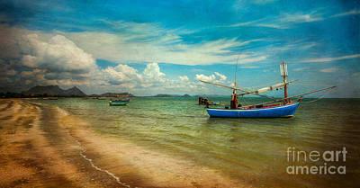 Asian Beach Print by Adrian Evans