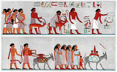 Asian Family Arriving In Egypt Print by Cci Archives