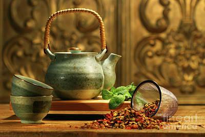 Mint Photograph - Asian Herb Tea by Sandra Cunningham
