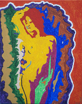 Tantra Painting - Nude Asian Goddess by Stormm Bradshaw