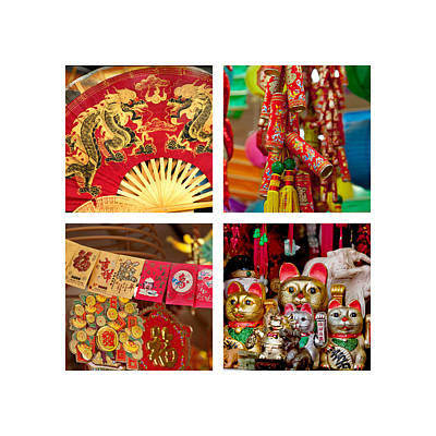 Asian Style Trinkets Print by Art Block Collections