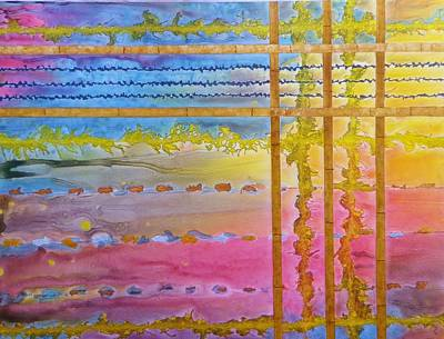 Representative Abstract Painting - Asian Sunrise by David Raderstorf