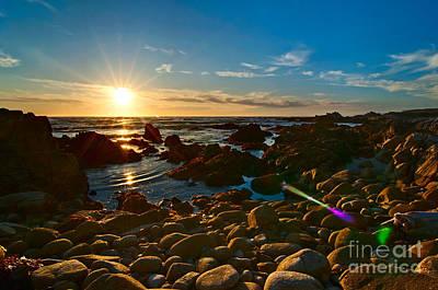 Asilomar Sunset - Monterey Bay Print by Jamie Pham