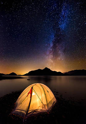 British Columbia Photograph - Asleep Under The Milky Way by Alexis Birkill