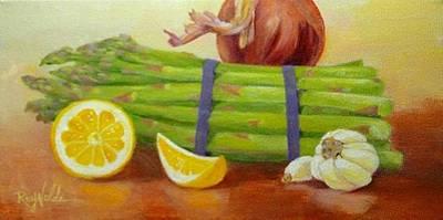Asparagus Painting - Asparagus For Dinner by Carol Reynolds