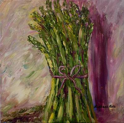 Asparagus Painting - Asparagus Wrapped In A Bow by Barbara Pirkle