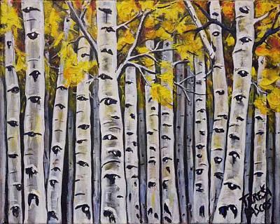 Landscape-like Art Painting - Aspen Forest by Teresa  Pascos