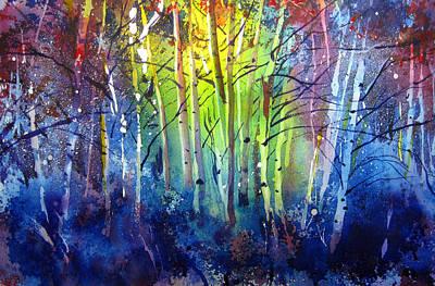 Wyoming Painting - Aspen Grove by Kris Parins